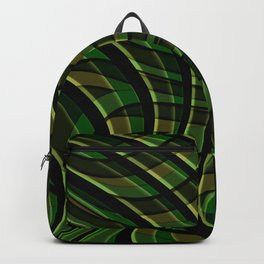 Green wave ,green Backpack