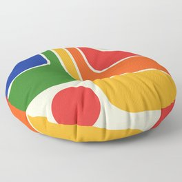 Retro Geometric Design 621 Floor Pillow