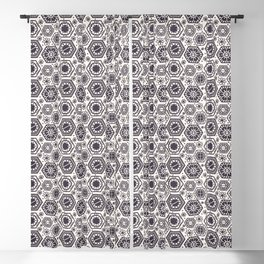 Seamless vector pattern. Hand drawn mosaic tile shapes. Blackout Curtain