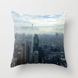 More Fog Less Smog Throw Pillow