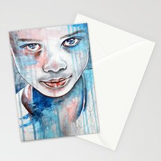 When the rain washes you clean, watercolor illustration Stationery Cards