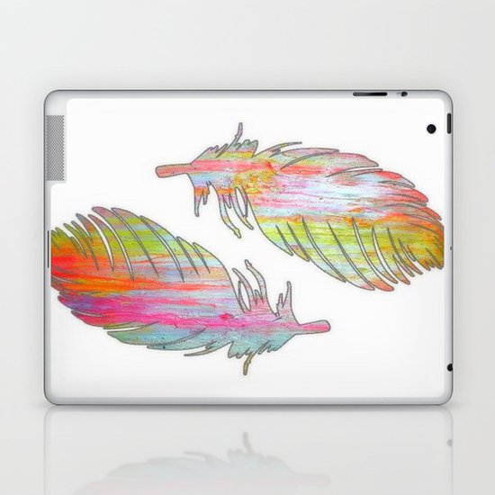 Neon feather Laptop & iPad Skin