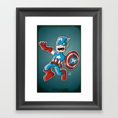 Capitain America Framed Art Print