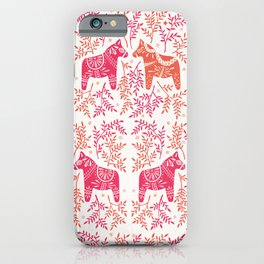 Swedish Dala Horses – Melon Palette iPhone Case