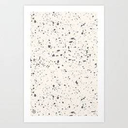 Retro Speckle Print - Bone Art Print