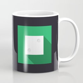 """Dice """"two"""" with long shadow in new modern flat design Coffee Mug"""