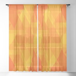 Bright orange and yellow triangles in the intersection and overlay. Sheer Curtain