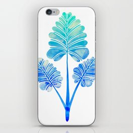Tropical Palm Leaf Trifecta – Blue Ombré Palette iPhone Skin