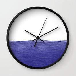 ballpoint pen ocean fishing 2 Wall Clock