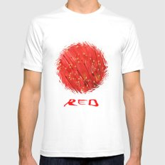 Red  &  Hairy Mens Fitted Tee White MEDIUM