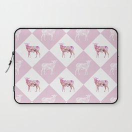 Sheeps - Pink and white Laptop Sleeve