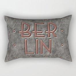 Berlin, leather and metal Rectangular Pillow