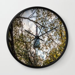 Framed in Fall Foliage Wall Clock