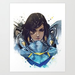 justice rains from above Art Print