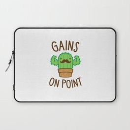 Gains On Point (Cactus Pun) Laptop Sleeve
