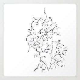 Synapse Face Art Print