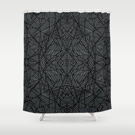 Ab Lace Black and Grey Shower Curtain