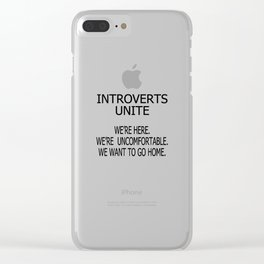 Introverts Clear iPhone Case