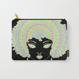 Cute Black Girl With Afro Mandala Carry-All Pouch