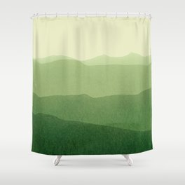 gradient landscape green Shower Curtain