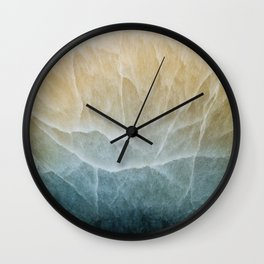 Abstract mineral texture Wall Clock