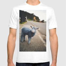Blue? Sheep? Mens Fitted Tee MEDIUM White