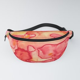 Fiery Abstract Watercolor Fanny Pack