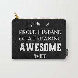 Wife,husband funny tshirt gift idea Carry-All Pouch