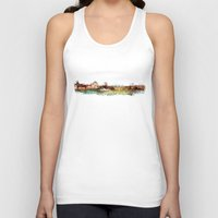 finland Tank Tops featuring Helsinki city panorame, Finland by jbjart