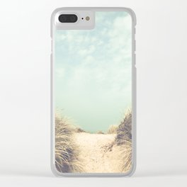 The Way To The Beach Clear iPhone Case