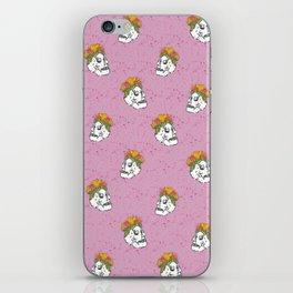 SKULL & FLOWERS - PINK iPhone Skin