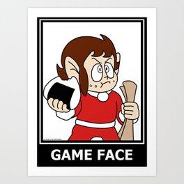 Alex Kidd - Game Face Art Print