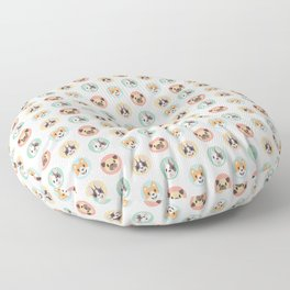 Circle Pup Pattern Floor Pillow
