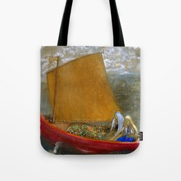 "Odilon Redon ""La Voile jaune (The Yellow Sail)"" Tote Bag"