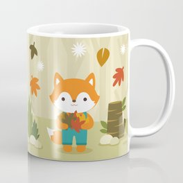 Fox in Autumn Forest Coffee Mug