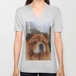 Dog Chow Chow Unisex V-Neck