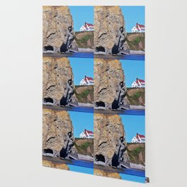Cliffside Coastal Home Wallpaper