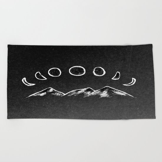 Mountain Moon Beach Towel