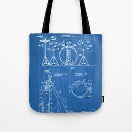 Drum Set Patent - Drummer Art - Blueprint Tote Bag
