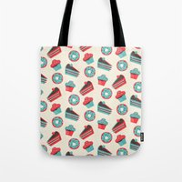 happy birthday Tote Bags featuring happy birthday  by marella