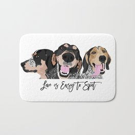 Love is Easy to Spot Bluetick Coonhound Bath Mat