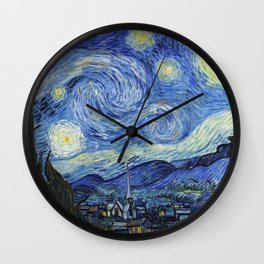 1889-Vincent van Gogh-The Starry Night-73x92 Wall Clock