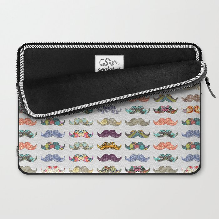 Mustache Mania Laptop Sleeve