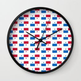 flag of panama 2 -Panama,Panamanian,canal,spanish,San Miguelito,Tocumen,latine,central america,panam Wall Clock