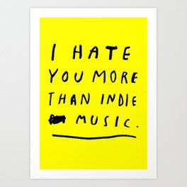 INDIE MUSIC Art Print