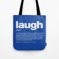 definition LLL - Laugh 6 Tote Bag