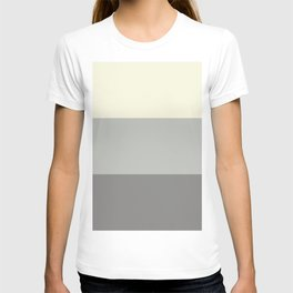 Benjamin Moore 2019 Color of Year Metropolitan, Lemon Chiffon 932 & Cinder Dark Gray 3 Bold Stripes T-shirt