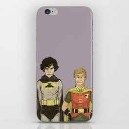 The Adventures of Hat-man and John the Boy Wonder iPhone Skin