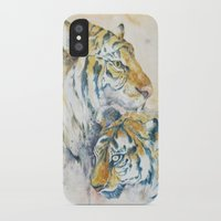 tigers iPhone & iPod Cases featuring Tigers by Sasita Samarnpharb