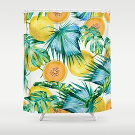 Leaf and melon pattern Shower Curtain